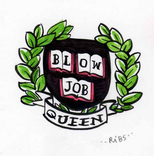 """Blow Job Queen"" is copyright ©2008 by Steven Weissman.  All rights reserved.  Reproduction prohibited."