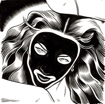 """Madonna in blackface"" is copyright ©2008 by Eric Reynolds.  All rights reserved.  Reproduction prohibited."