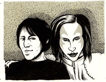 """Elliott Smith & Marilyn Manson"" is copyright ©2008 by Eric Reynolds.  All rights reserved.  Reproduction prohibited."