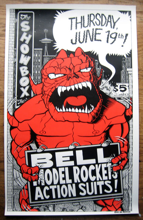 """Bell / Model Rockets / Action Suits poster"" is copyright ©2008 by Eric Reynolds.  All rights reserved.  Reproduction prohibited."