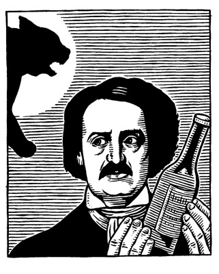 """Poe Cat (New York Times)"" is copyright ©2008 by M. Kupperman.  All rights reserved.  Reproduction prohibited."