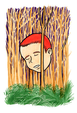 """CRYING HEAD IN WOODS"" is copyright ©2008 by Jeremy Eaton.  All rights reserved.  Reproduction prohibited."
