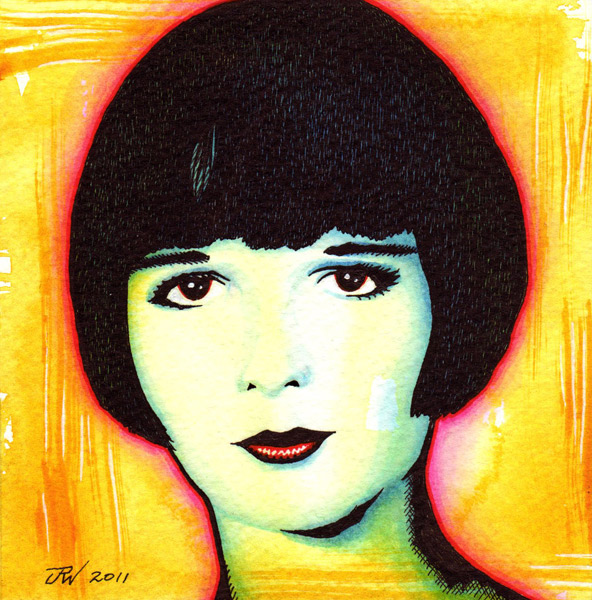 """Louise Brooks"" is copyright ©2008 by J.R. Williams.  All rights reserved.  Reproduction prohibited."