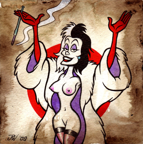 """Cruella"" is copyright ©2008 by J.R. Williams.  All rights reserved.  Reproduction prohibited."