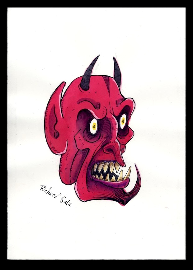 """Unmasked Series: Mad Devil"" is copyright ©2008 by Richard Sala.  All rights reserved.  Reproduction prohibited."