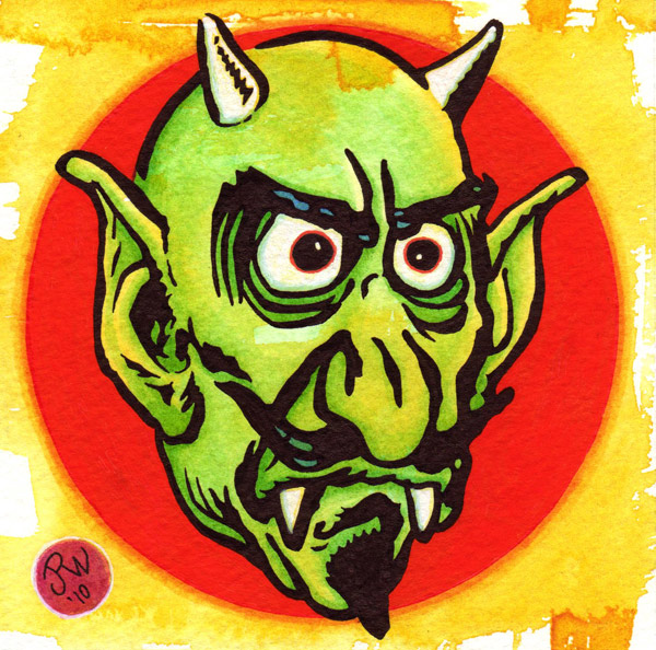 """Green Demon"" is copyright ©2008 by J.R. Williams.  All rights reserved.  Reproduction prohibited."