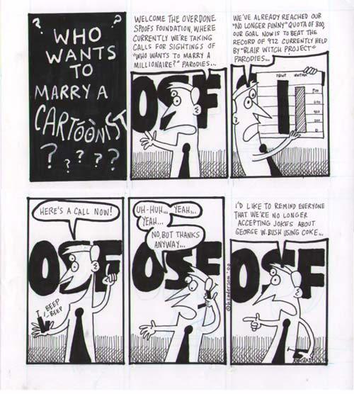 """Who Wants to Marry a Cartoonist?"" is copyright ©2008 by Sam Henderson.  All rights reserved.  Reproduction prohibited."