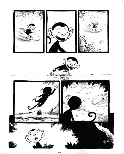 """Monkey and the Crocodile Page 10"" is copyright ©2008 by Robert Goodin.  All rights reserved.  Reproduction prohibited."