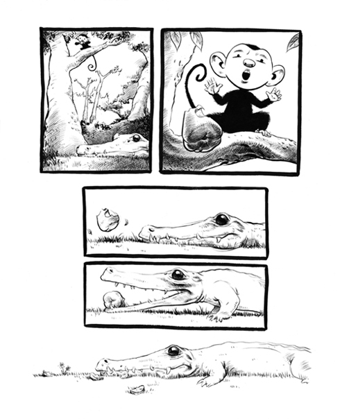 """Monkey and the Crocodile Page 2"" is copyright ©2008 by Robert Goodin.  All rights reserved.  Reproduction prohibited."