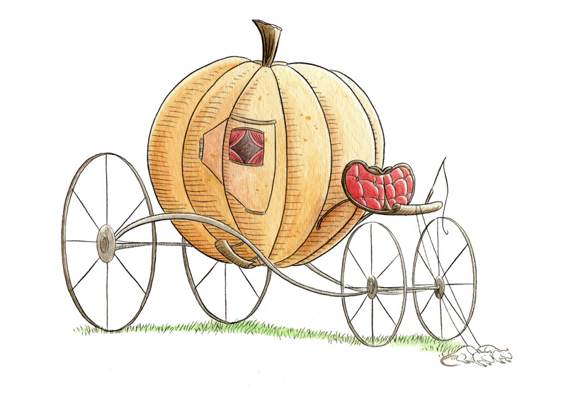 """FAIRY TALE ICON - THE PUMPKIN COACH"" is copyright ©2008 by Jeremy Eaton.  All rights reserved.  Reproduction prohibited."
