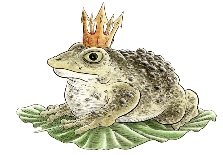 """*FAIRY TALE ICON - THE TOAD PRINCE"" is copyright ©2008 by Jeremy Eaton.  All rights reserved.  Reproduction prohibited."