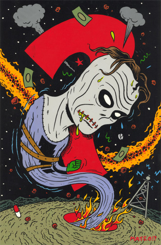 """'Madman' trading card art: color"" is copyright ©2008 by  Mats!?.  All rights reserved.  Reproduction prohibited."