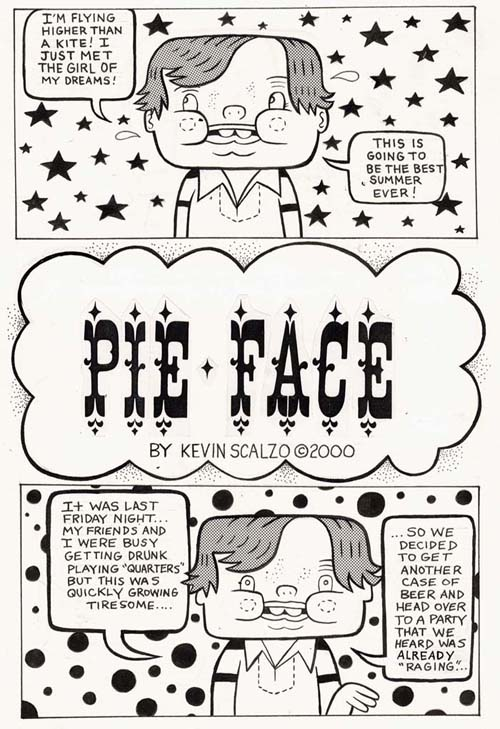 """Expo 2000: Pie Face pg. 1"" is copyright ©2008 by Kevin Scalzo.  All rights reserved.  Reproduction prohibited."