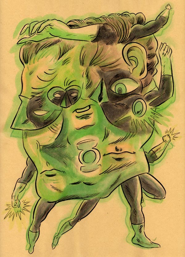 """TRANSMUTATIVE GREEN LANTERN"" is copyright ©2008 by Jeremy Eaton.  All rights reserved.  Reproduction prohibited."