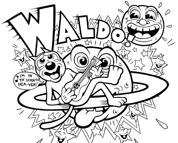 """Waldo t-shirt design"" is copyright ©2008 by Kim Deitch.  All rights reserved.  Reproduction prohibited."