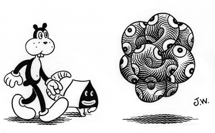 """TANGLER"" is copyright ©2008 by Jim Woodring.  All rights reserved.  Reproduction prohibited."