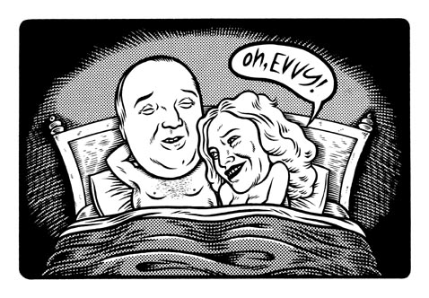 """Everett True & Courtney Love"" is copyright ©2008 by Eric Reynolds.  All rights reserved.  Reproduction prohibited."