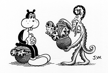 """BURGEON"" is copyright ©2008 by Jim Woodring.  All rights reserved.  Reproduction prohibited."
