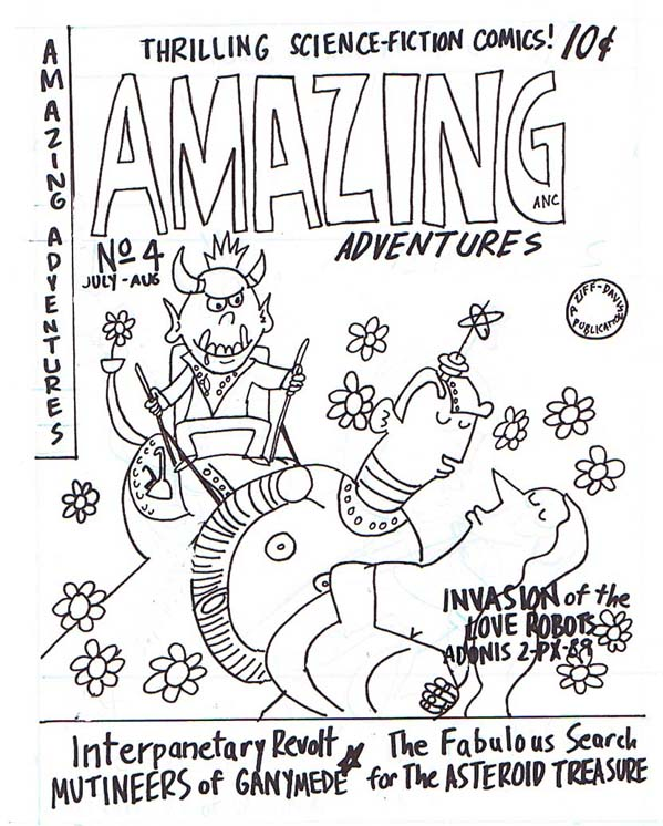 """Amazing Adventures #4"" is copyright ©2008 by Sam Henderson.  All rights reserved.  Reproduction prohibited."