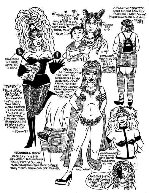 """'The Other Women in Comics' p.2"" is copyright ©2008 by Mary Fleener.  All rights reserved.  Reproduction prohibited."