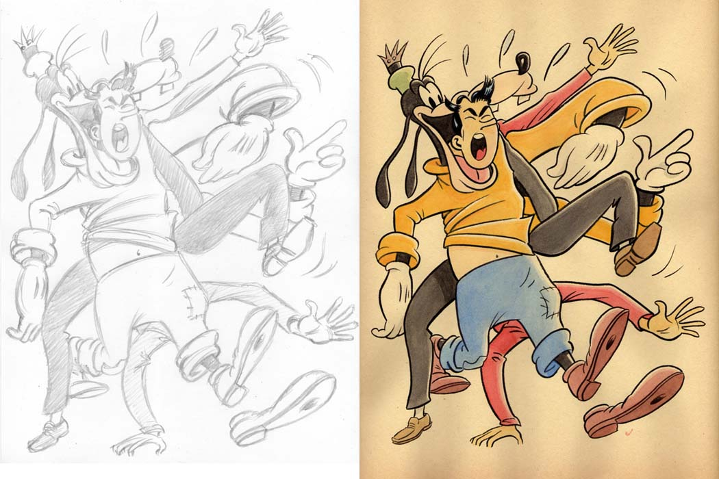 """CARTOON JUMBLE! JUGHEAD & GOOFY!"" is copyright ©2008 by Jeremy Eaton.  All rights reserved.  Reproduction prohibited."