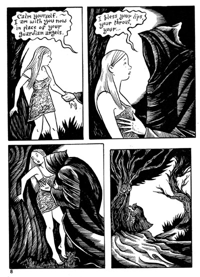 """Peculia & the Groon Grove Vampires p.8"" is copyright ©2008 by Richard Sala.  All rights reserved.  Reproduction prohibited."