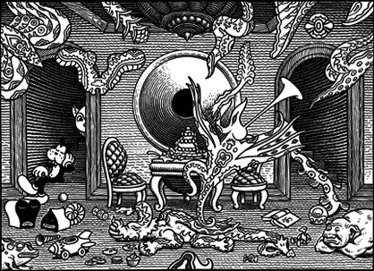 """HOLY NIGHT"" is copyright ©2008 by Jim Woodring.  All rights reserved.  Reproduction prohibited."