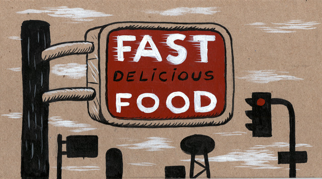 """Fast delicious food."" is copyright ©2008 by  Mats!?.  All rights reserved.  Reproduction prohibited."