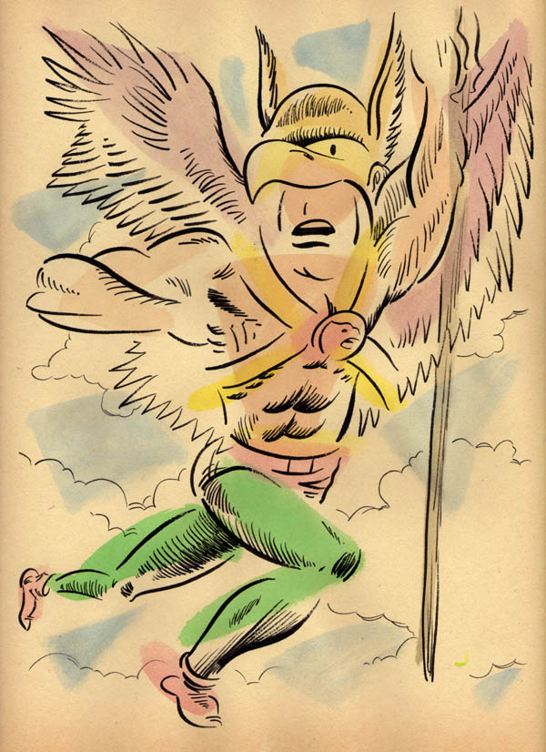 """NEO-EXPRESSIVE HAWKMAN"" is copyright ©2008 by Jeremy Eaton.  All rights reserved.  Reproduction prohibited."