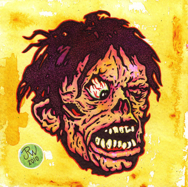 """Shock Zombie"" is copyright ©2008 by J.R. Williams.  All rights reserved.  Reproduction prohibited."