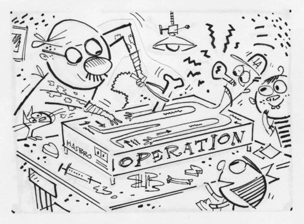 """Washington Post - Operation Game"" is copyright ©2008 by Bob Staake.  All rights reserved.  Reproduction prohibited."