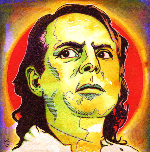 """Karlheinz Stockhausen"" is copyright ©2008 by J.R. Williams.  All rights reserved.  Reproduction prohibited."
