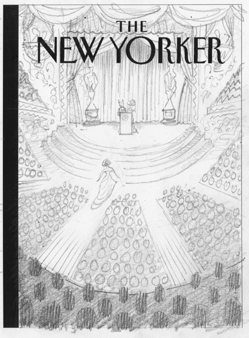 """New Yorker - Academy Awards"" is copyright ©2008 by Bob Staake.  All rights reserved.  Reproduction prohibited."