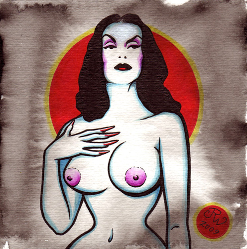 """Vampira"" is copyright ©2008 by J.R. Williams.  All rights reserved.  Reproduction prohibited."