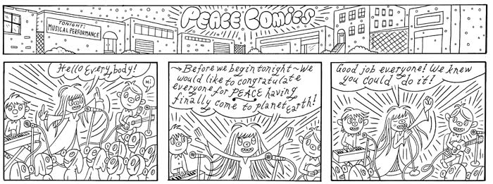 """LAVENDER DIAMOND - PEACE COMICS 1"" is copyright ©2008 by Ron Regé, Jr..  All rights reserved.  Reproduction prohibited."