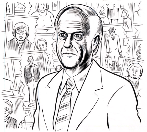 """Divorce lawyer portrait from The New Yorker"" is copyright ©2008 by Daniel Clowes.  All rights reserved.  Reproduction prohibited."
