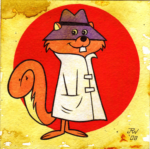 """Secret Squirrel"" is copyright ©2008 by J.R. Williams.  All rights reserved.  Reproduction prohibited."