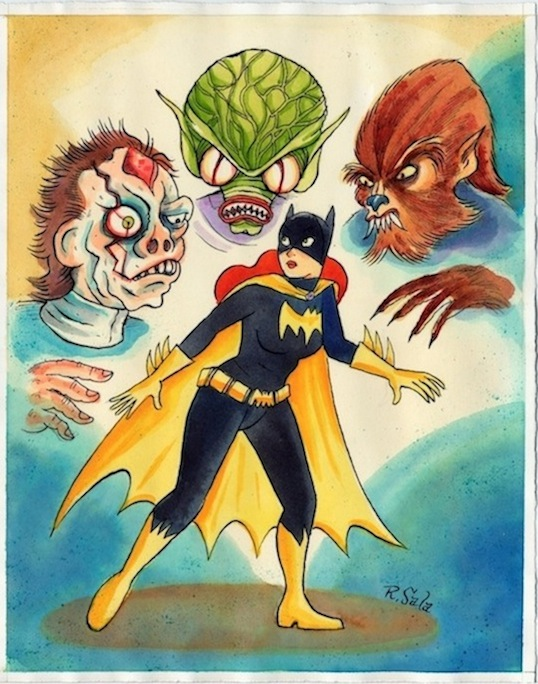 """Batgirl Meets The Monsters"" is copyright ©2008 by Richard Sala.  All rights reserved.  Reproduction prohibited."