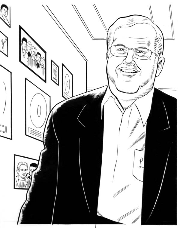 """Fast Company:  Portrait of Lou Pearlman"" is copyright ©2008 by Daniel Clowes.  All rights reserved.  Reproduction prohibited."