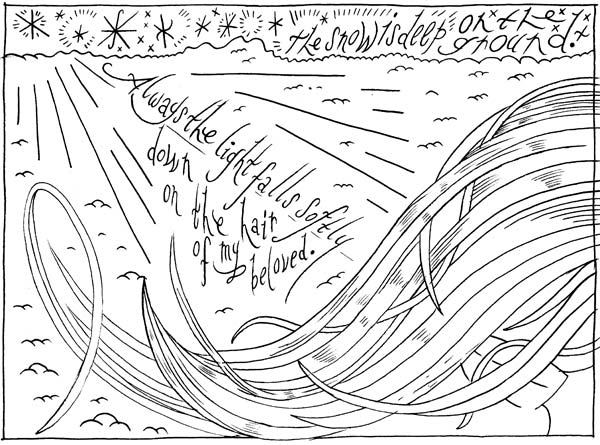 """KENNETH PATCHEN - panel 1"" is copyright ©2008 by Ron Regé, Jr..  All rights reserved.  Reproduction prohibited."