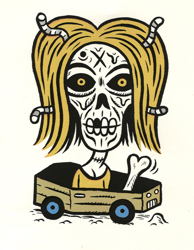 """print* Blond rollin' coffin"" is copyright ©2008 by  Mats!?.  All rights reserved.  Reproduction prohibited."