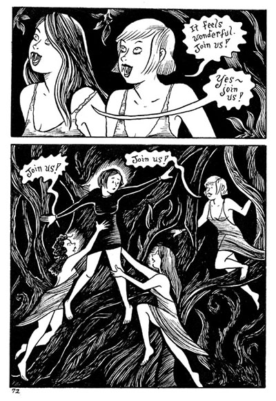 """Peculia & the Groon Grove Vampires pg.72"" is copyright ©2008 by Richard Sala.  All rights reserved.  Reproduction prohibited."