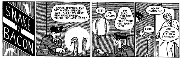 """Snake 'n' Bacon's new partner"" is copyright ©2008 by M. Kupperman.  All rights reserved.  Reproduction prohibited."