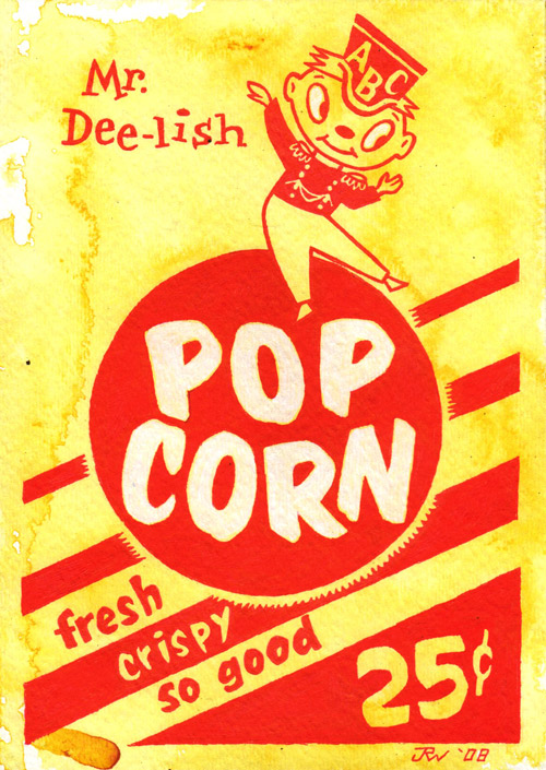 """Pop Corn"" is copyright ©2008 by J.R. Williams.  All rights reserved.  Reproduction prohibited."