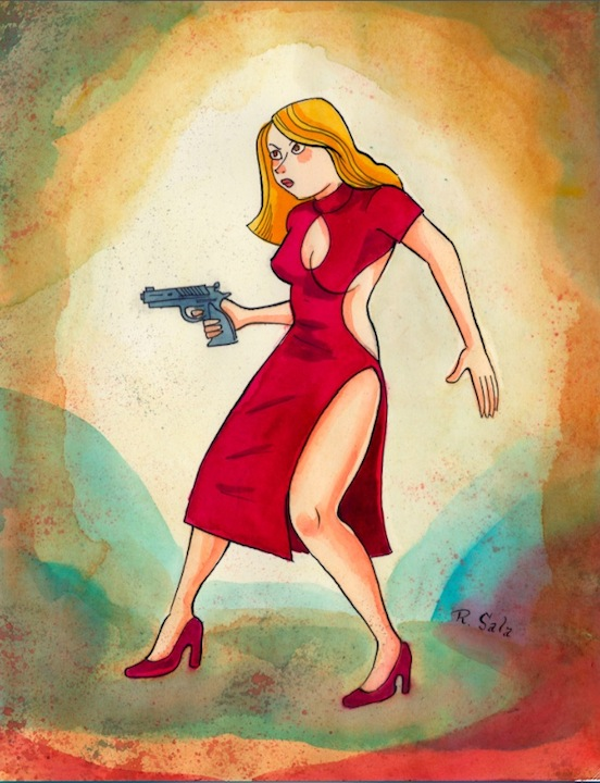 """Violent Girls 4 - Heartless Femme Fatale"" is copyright ©2008 by Richard Sala.  All rights reserved.  Reproduction prohibited."