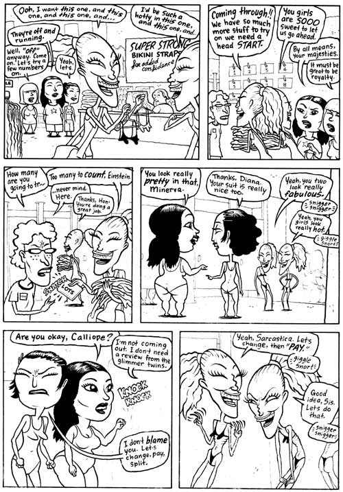 """Wonder Woman p. 3"" is copyright ©2008 by Dave Cooper.  All rights reserved.  Reproduction prohibited."