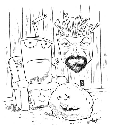 """DAYTROTTER - Aqua Teen Hunger Force"" is copyright ©2008 by Robert Goodin.  All rights reserved.  Reproduction prohibited."
