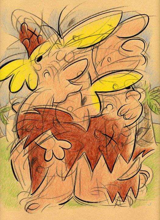 """IMPRESSIONISTIC BARNEY RUBBLE"" is copyright ©2008 by Jeremy Eaton.  All rights reserved.  Reproduction prohibited."