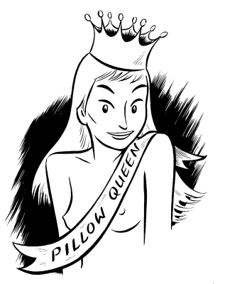 """Pillow Queen"" is copyright ©2008 by Colleen Coover.  All rights reserved.  Reproduction prohibited."
