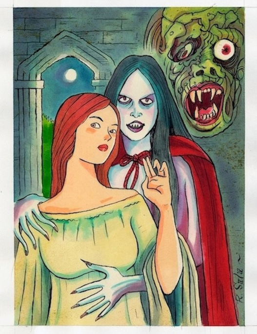 """Vampyre Lovers"" is copyright ©2008 by Richard Sala.  All rights reserved.  Reproduction prohibited."